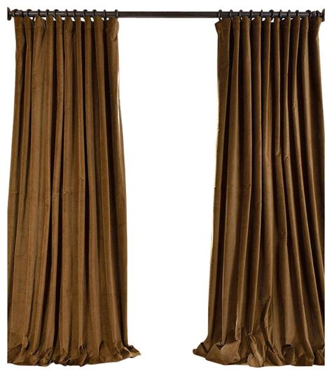 cotton drapes and curtains burnt olive doublewide vintage cotton velvet curtain