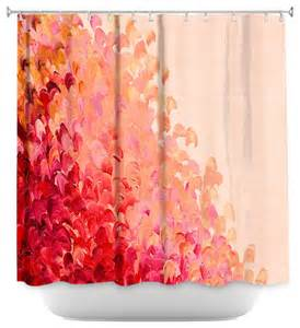 shower curtain artistic creation in color coral pink