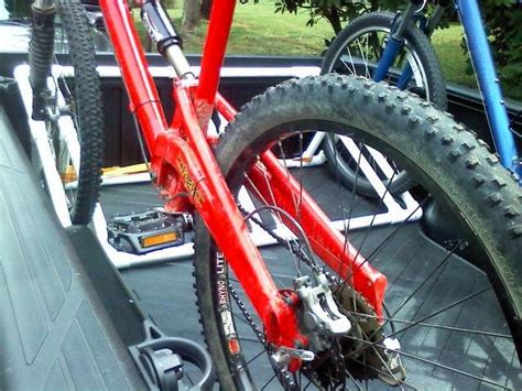 truck bed bike rack diy diy truck bed bike rack tacoma world