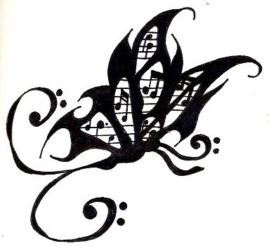 music tattoo designs free butterfly design by ayame2 on deviantart