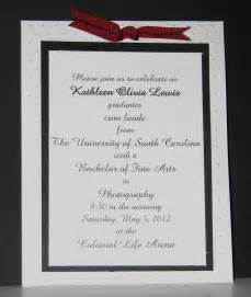 sle graduation invitation templates exle of college graduation invitations wedding