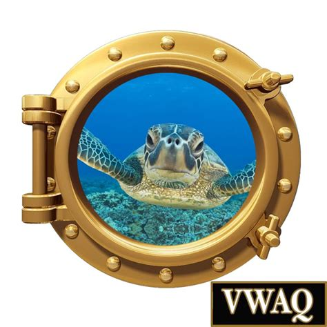 Porthole Windows Bathroom Decorating Sea Turtle Porthole Window Underwater Room Decor Peel Stick Wall Po97