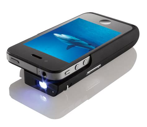 beamer cool themes iphone pocket projector case unveiled by texas instruments