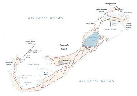 bermuda on world map map of bermuda by phonebook of bermuda