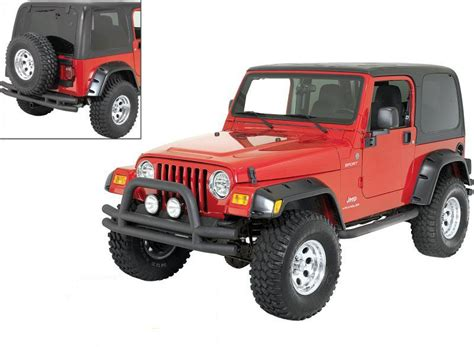 rugged ridge tj bumper rugged ridge rugged ridge dual front bumper side step bars and rear bumper with hitch in