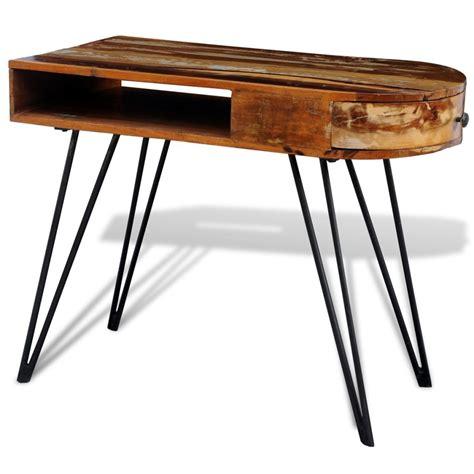 gambe scrivania scrivania in legno anticato massello con gambe di ferro