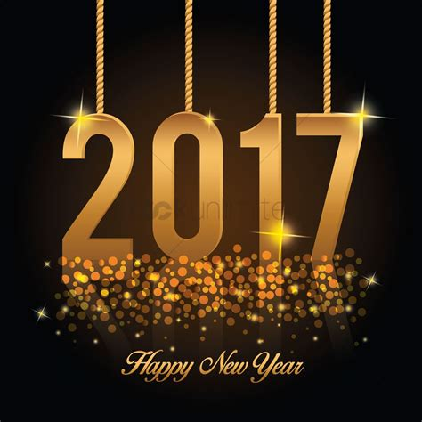 happy new year 2017 vector image 1913134 stockunlimited