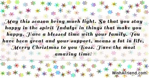 season bring  light christmas message  boss
