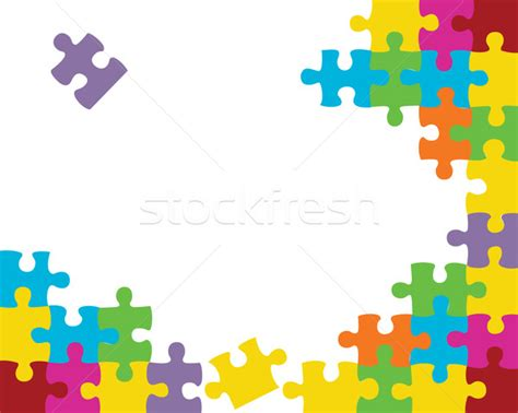 puzzle design elements vector abstract puzzle background decor element vector