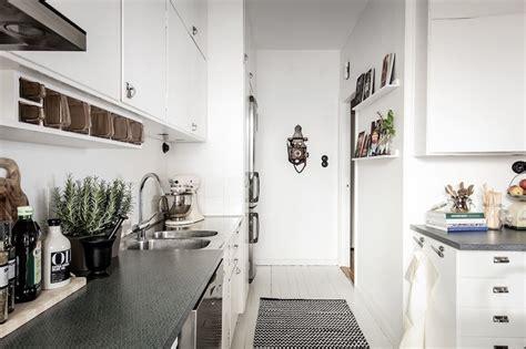 modern vintage interior design in swedish apartment