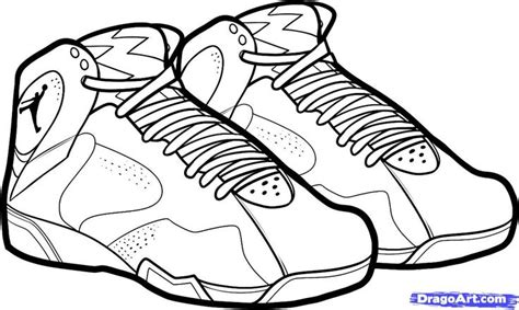 how to draw basketball shoes michael coloring pages how to draw air