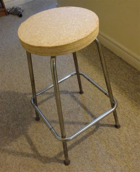 Stool After by Simple Stool Turned Vinyl Record Side Table Hometalk
