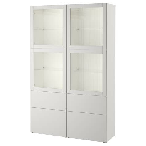 ikea besta glass best 197 storage combination w glass doors white sindvik