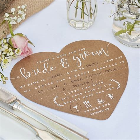 Wedding Advice For Groom by Wedding Advice Cards For The And Groom Rustic