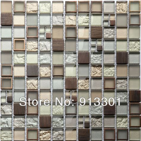 antique copper backsplash mosaic tiles mirror pattern kitchen backsplash
