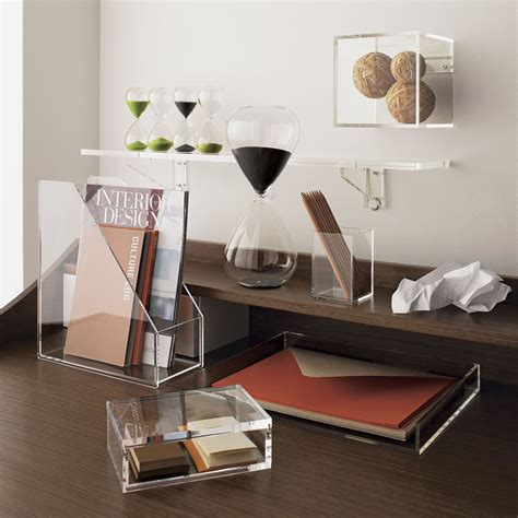 5 Ways To Use Acrylic Decor Throughout Your House Clear Desk Accessories