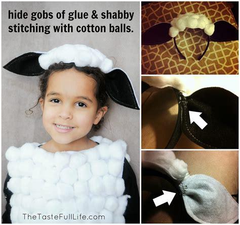 Handmade Sheep Costume - diy sheep costume crafts