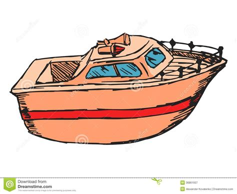 cartoon boat motor motor boat royalty free stock photography image 36861937