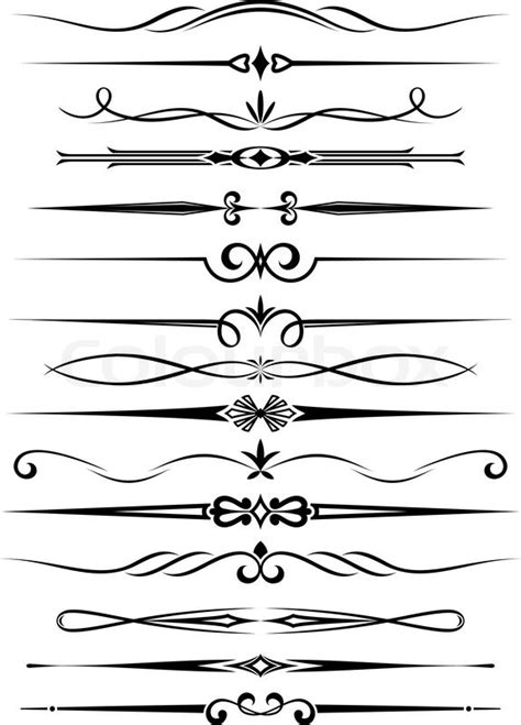 Retro Style Home Decor Vintage Dividers And Borders Set For Ornate And Decoration