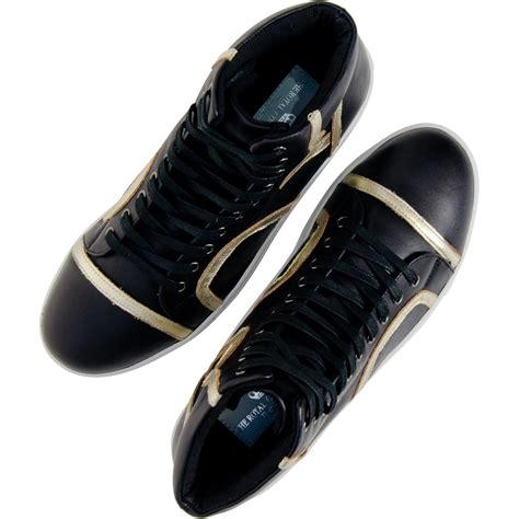 black and gold mens sneakers bogart black and gold design patent leather high top