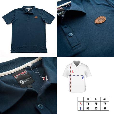 Kaos Polos Lacoste Colbus Uk M polo shirt dengan logo land rover warna biru tua bahan