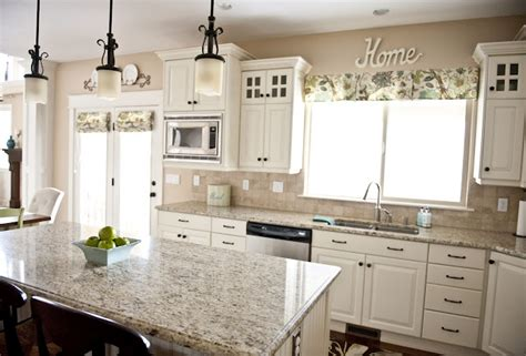 colors for kitchens with white cabinets love the granite color with the white cabinets