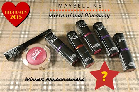 International Giveaway - maybelline international giveaway winner ang savvy