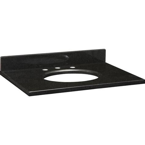 ryvyr 31 in granite vanity top in black without basin