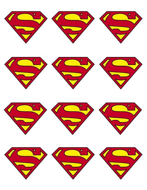 superman cupcake topper partytjie idees pinterest