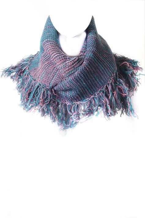 Multi Scarf multi colored fringe infinity scarf scarves