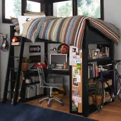 Bunk Bed For Boys Boys Room Bunk Bed With Workspace And Bike Interior Design Ideas