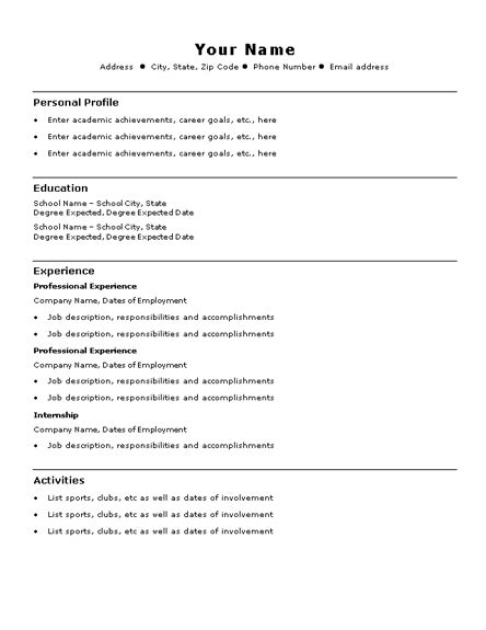 Resume Format Doc For Bpo Stylist And Luxury Simple Resume Layout 10 Free Basic Blank Resume Template Resume Exle