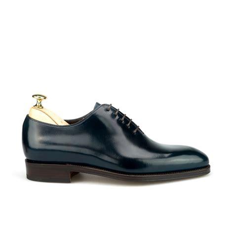 cordovan oxford shoes wholecut oxford in cordovan navy carmina