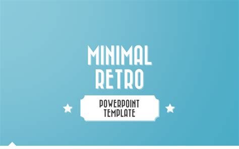 Design A Home Game Free by Minimal Retro Powerpoint Template By Melonadestudios