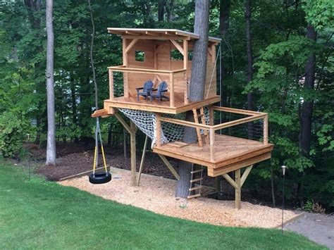triyae backyard treehouse without tree various design inspiration for backyard