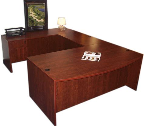 Buy Office Desks Sale 949 Bow Front U Desk No Hutch 71w X 108d Smart Buy Office Furniture