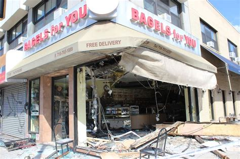 Trucker Bontrager Bighel Shop box truck crashes into bagel shop and hurts 6 fdny say forest new york dnainfo