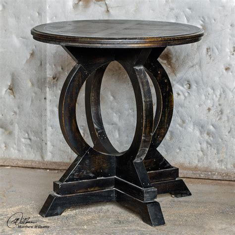 mahogany accent tables uttermost maiva black and mahogany accent table on sale
