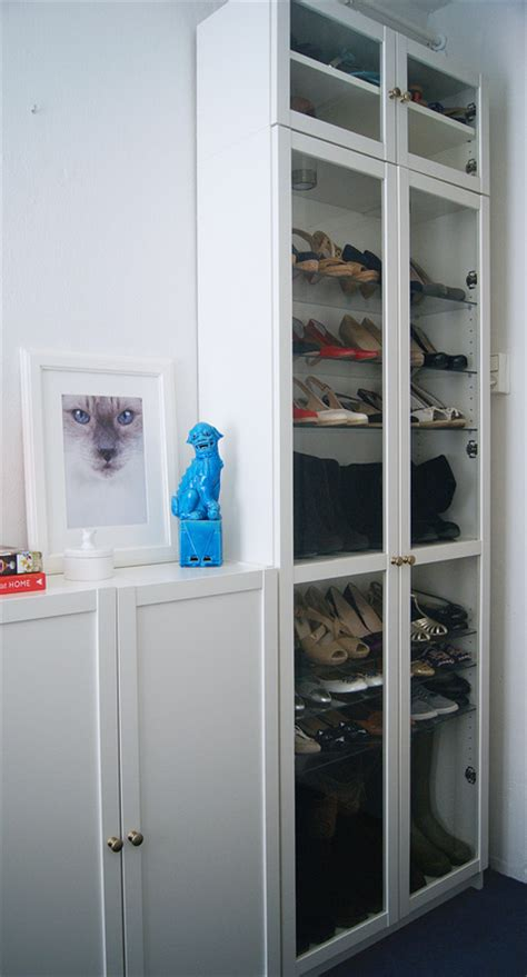 ikea bookshelf closet hack ikea billy book case white and glass shoe closet ikea