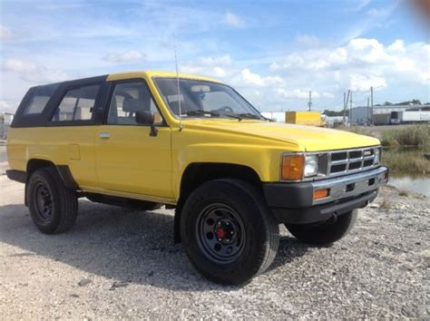 Toyota 4runner 4x4 For Sale 1985 Toyota 4runner Sr5 4 Cylinders 22re 5 Speed 4x4 For