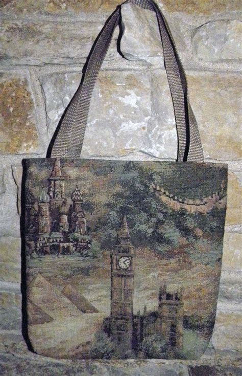 Handmade World - handmade world land tapestry tote 1