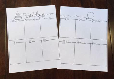 1000 ideas about geburtstagskalender vorlage on