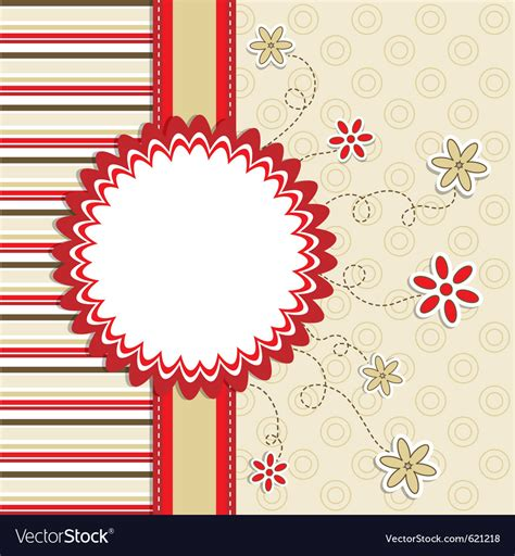 Greeting Card Template Vector By Tolchik Image 621218 Vectorstock Card Vector Template