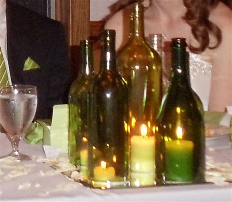 silver current designs wine bottle centerpieces
