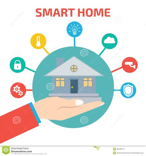 2d Home Design Online Free by Smart House Technology Vector Illustration Stock Vector