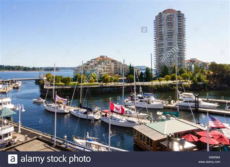 boat basin vancouver island nanaimo british columbia stock photos nanaimo british