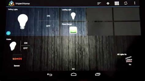 android controlled home automation basic imperihome