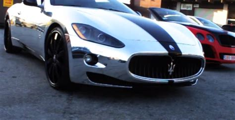 Maserati Granturismo Wrapped In Chrome Photo Gallery