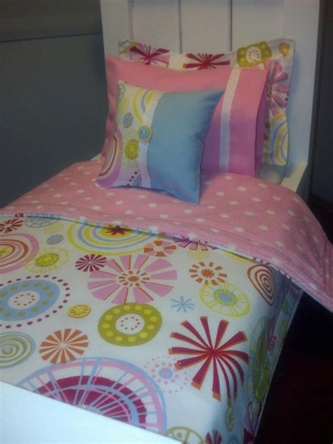 candy carnival 5 piece bedding set for american girl doll