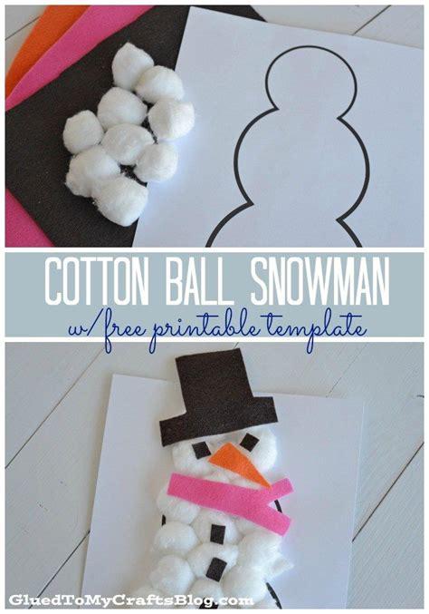 cotton ball snowman printable template 17 best images about preschool winter on pinterest